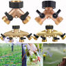 "3/4"" Brass Hose Pipe Splitter 2/4 Way Garden Irrigation Connector Tap Adaptor KD"