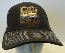 Boat Club Snapback Trucker Hat Cap USA Embroidered Fishing Unisex New