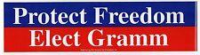1996 PHIL GRAMM President BUMPER STICKER Political TEXAS US Senate SENATOR TX