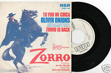 """OLIVER ONIONS - Zorro Is Back / To You Mi Chica, SG 7"""" SPANISH PRESS 1975 PROMO"""