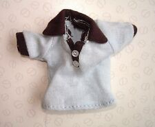 Original Bratz Boyz muñeca Ropa de Bebé Azul y Marrón Oscuro T-Shirt Top