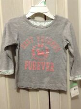 NWT Carters baby girl's long sleeve T-shirt /18 M gray