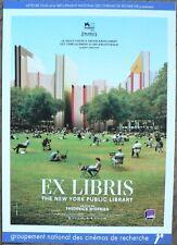 EX LIBRIS : THE NEW YORK PUBLIC LIBRARY - F.Wiseman SYNOPSIS ORIGINAL + BOOKMARK