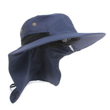 Boonie Fishing Boating Hiking Snap Hat Brim Ear Neck Cover Bucket Sun Flap Cap
