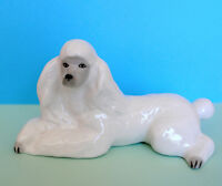Lomonosov PORCELAIN Figurine DOG POODLE White