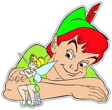 """Peter Pan Tinkerbell Cartoon Car Bumper Window Sticker Decal 5""""X4.1"""""""