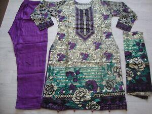 Linen Suit printed Asian Ready Made Pakistani Indian salwar kameez 2021 3pc SALE