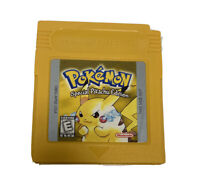 Pokemon Yellow Pikachu Edition Gameboy Cartridge + Game Case - WORKS, TESTED!