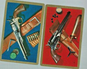 Geniune Swap Vintage Playing Card  x 2 Cowboy