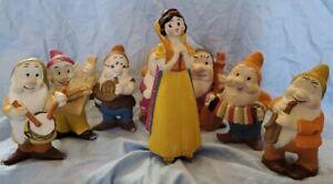 Vintage antique 1930's Disney Snow White musician bisque set