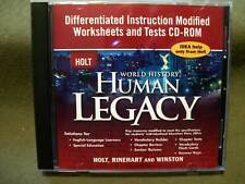 Holt World History Human Legacy Differentiated Instruction Worksheets & Tests CD