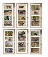 2012 AFRICAN ANIMALS FAUNA LION ELEPHANT 10 SOUVENIR SHEETS  MNH IMPERFORATED