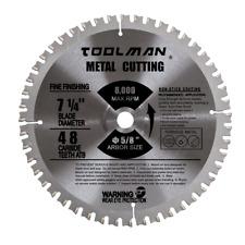 "7-1/4"" 5/8"" 48T Carbide Tip Circular Saw Blade For Metal cutting"