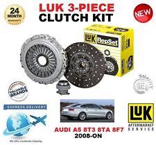 FOR AUDI A5 8T3 8TA 8F7 2.0 3.2 TFSi TDi QUATTRO 2008-ON CLUTCH KIT LUK 3 PIECE
