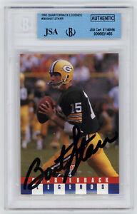 PACKERS Bart Starr signed card 1991 QB Legends #38 AUTO JSA Beckett Autographed