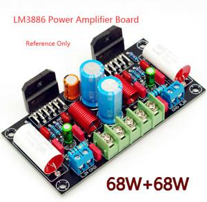 LM3886 Power Amplifier Board PCB DIY Audio Module 68W+68W 20-35V Dual Channel