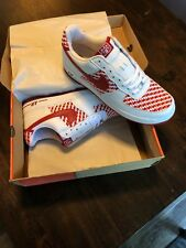 Deadstock Nike Air Force 1 West Indies Sz 13 Style #309096-161 red/wht/weave