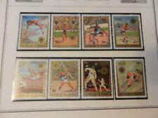 Lot of 8 Burundi 1972 Munich 1972 Summer Olympic Stamps