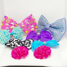 Lot Of Girls Hair Bows Lot Of 8 Girls Hair Bows Purple Pink Unicorn Black White