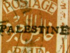 1921 Stamp EEF Overprint Palestine British Mandate 3m Jerusalem II Issue Thick E