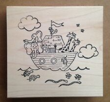 Wood Mounted Rubber Stamps, Christian Stamps, Bible Stories, Noahs Ark, Animals