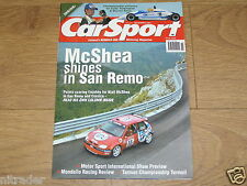 CARSPORT MAGAZINE NOVEMBER 2001 SAN REMO RALLY  FREE UK POSTAGE