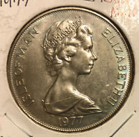"1977 Isle Of Man Crown Coin Elizabeth II ""The Queens Silver Jubilee Appeal"" KM42"