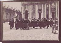 Roma Place Sant'Pierre Italia Foto Amateur Viaggio IN 1898 Vintage Citrate