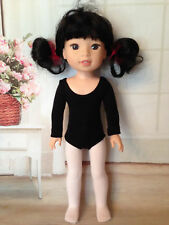 "Ballet Leotard and  tights for 14"" American Girl Wellie Wishers Doll"