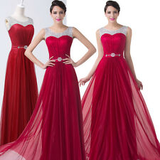 plus size Long Masquerade Evening Prom Formal Party Wedding Bridemaid Dress GOWN