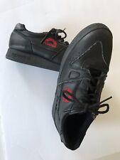 ASHAM CURLING SHOES 901 Black Leather US Size 7 .