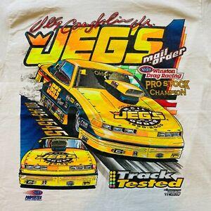 Vintage Jeg's NHRA Winston Drag Racing Pro Stock Champion T-Shirt S Oldsmobile