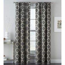 "Powersave Casbah Trellis Rod-Pocket Tailored Curtain Panel 40""x84"" Gray NEW"