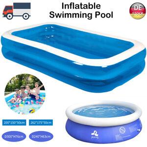 Fast Set Aufblasbar Schwimmbecken Planschbecken Swimmingpool Familien-Pool XXL