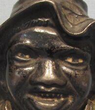 BIG PRICE CUT * 1901 * 2 FACE BLACK BOY OLD CAST IRON BANK GUARANTEED ORIG  BK36