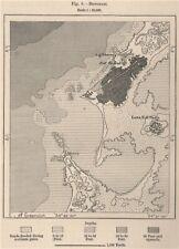 Benghazi. Libya. Tripolitana 1885 old antique vintage map plan chart