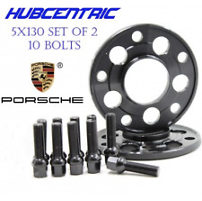 (2) 5x130 PORSCHE 20MM WHEEL SPACERS KIT (10) 14x1.5 BALL SEAT BOLTS 71.50MM HUB