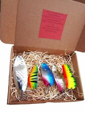 Weedless Lure Fishing Spoon Old  Spinner Bait Box Perch Tackle Bass Metal