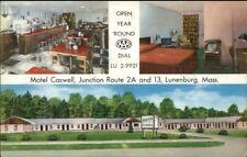 Lunenburg Ma Motel Caswell Postcard
