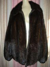 Perfect medio vero visone pelliccia reverisble Leather Unisex Cappotto/Giacca