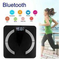 Bluetooth Körperwaage Personenwaage Fitnesswaage Gewicht Waage Schwarz bis 180KG