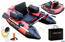 Nomura Belly Boat 170x120x70cm Taschen Netze Pumpe Ruder Boot Transporttasche