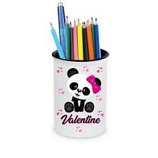 Pot à crayons Panda personnalisé avec prénom