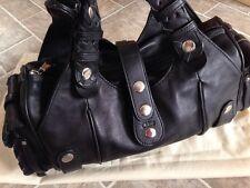 Chloe Silverado Mini Whipstitch Black Leather Shoulder Handbag *Mint*