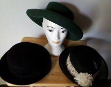 Lot Vintage Women's Hats Bollman Hat Co Doeskin Felt Bowler Rolled Rim 3