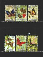 1963 Malaysia Insects Bugs Flora Butterflies, SG 64-71, Fine Used