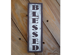 Small blessed wood sign, Design on a budget. Gift for the bride. country rustic