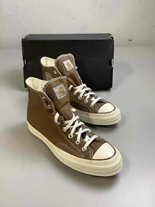 Men's NWB Converse x Carhartt Brown Hi-Top Shoes Size 9.5