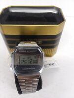 Casio LA680WA-1B Ladies Mid-Size Silver Digital Retro Vintage Watch Black Dial