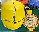 VINTAGE+AMERICAN+FAMILY+SCALE+COMPANY+CHICAGO+HANGING+BASKET+SCALE+60+LB+YELLOW+